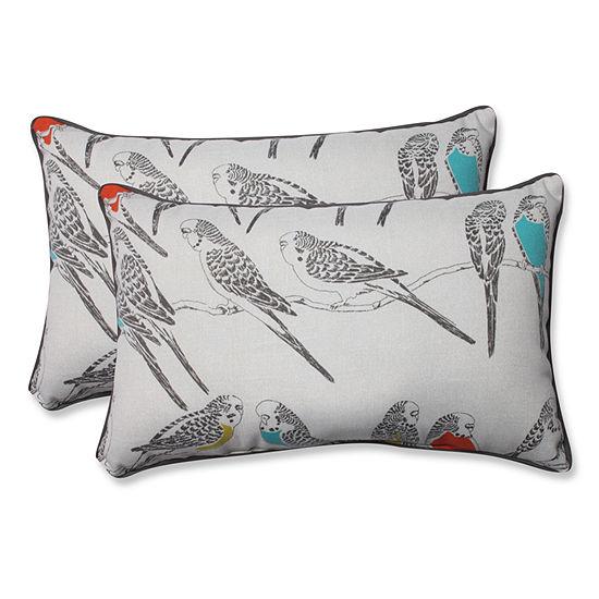 Pillow Perfect Retweet Rectangular Outdoor Pillow- Set of 2