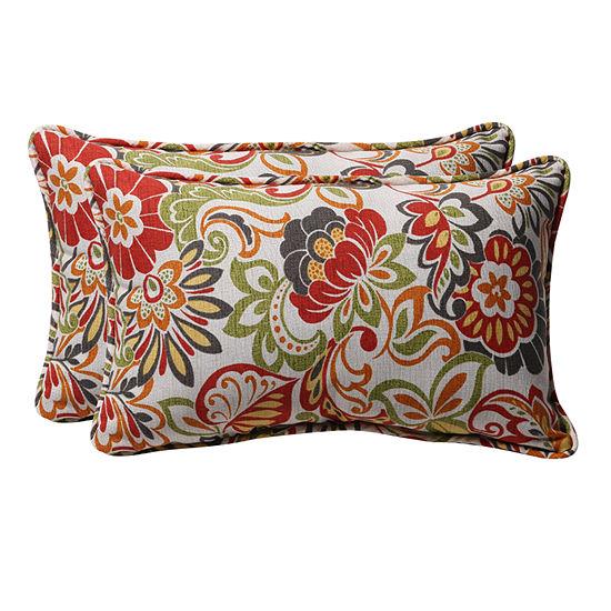 Pillow Perfect Zoe Rectangular Outdoor Pillow - Set of 2