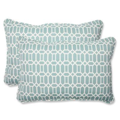Pillow Perfect Rhodes Rectangular Outdoor Pillow -Set of 2