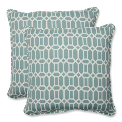 Pillow Perfect Rhodes Square Outdoor Pillow - Setof 2