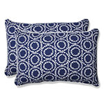 Pillow Perfect Ring a Bell Rectangular Outdoor Pillow - Set of 2