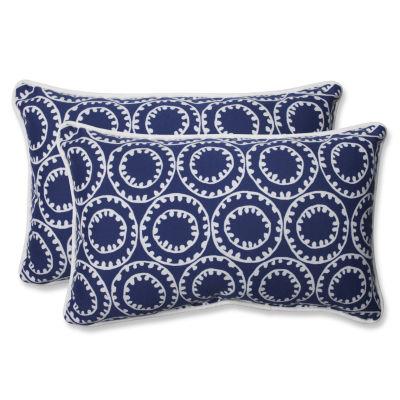 Pillow Perfect Ring a Bell Rectangular Outdoor Pillow - Set of 2