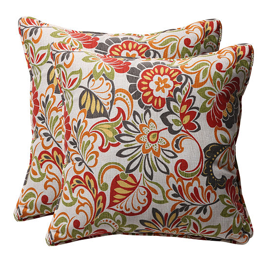 Pillow Perfect Zoe Square Outdoor Pillow - Set of2