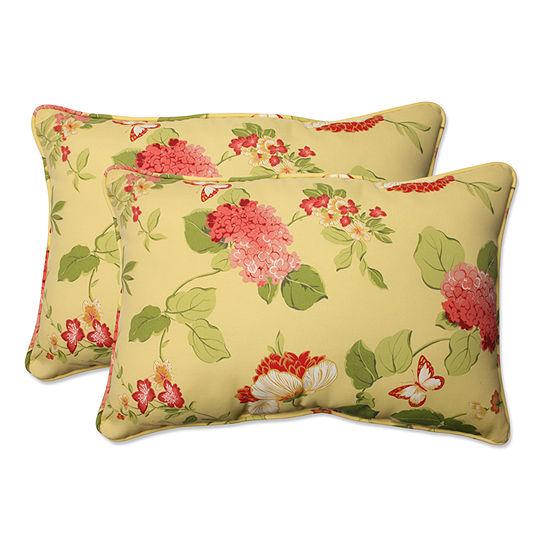 Pillow Perfect Risa Rectangular Outdoor Pillow - Set of 2