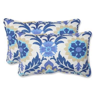Pillow Perfect Santa Maria Rectangular Outdoor Pillow - Set of 2