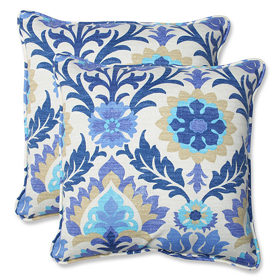 Pillow Perfect Santa Maria Square Outdoor Pillow -Set of 2