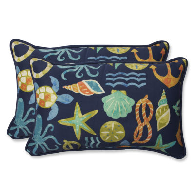 Pillow Perfect Seapoint Rectangular Outdoor Pillow- Set of 2