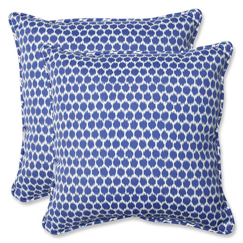 Pillow Perfect Seeing Spots Square Outdoor Pillow- Set of 2