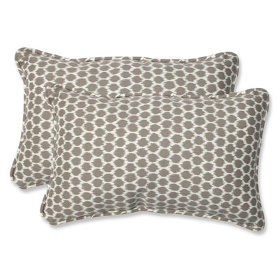 Pillow Perfect Seeing Spots Sterling Rectangular Outdoor Pillow - Set of 2