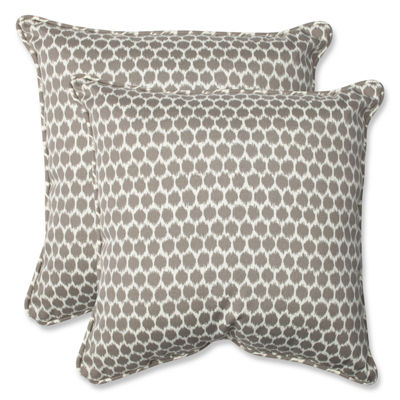 Pillow Perfect Seeing Spots Sterling Square Outdoor Pillow - Set of 2