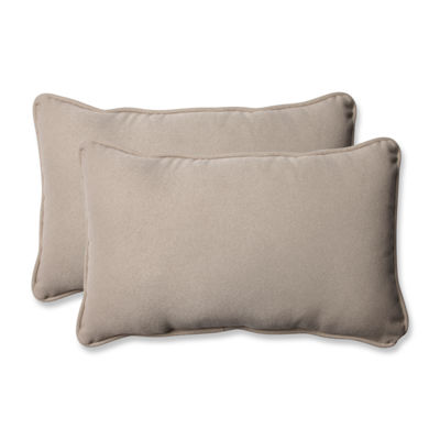 Pillow Perfect Solar Rectangular Outdoor Pillow -Set of 2