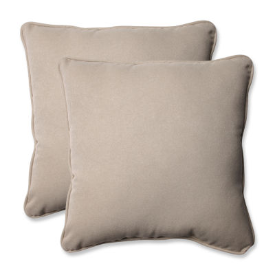 Pillow Perfect Solar Square Outdoor Pillow - Set of 2