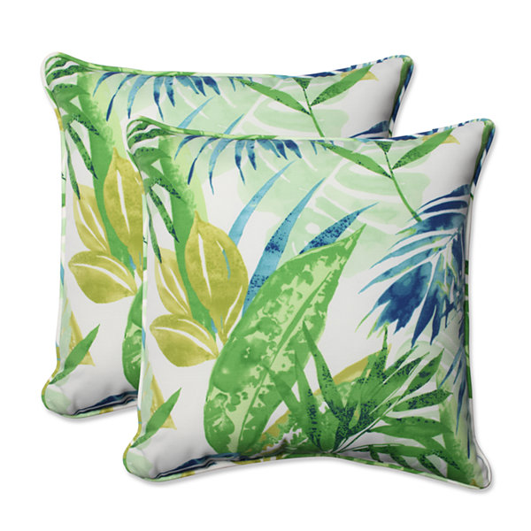 Pillow Perfect Soleil Square Outdoor Pillow - Set of 2