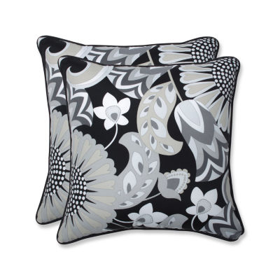 Pillow Perfect Sophia Square Outdoor Pillow - Setof 2