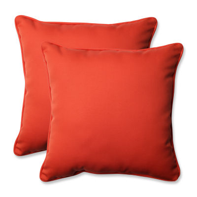 Pillow Perfect Splash Square Outdoor Pillow - Setof 2