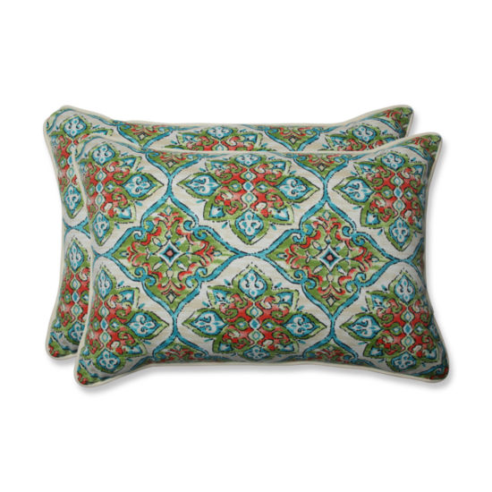 Pillow Perfect Splendor Rectangular Outdoor Pillow- Set of 2