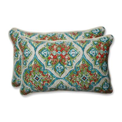 Pillow Perfect Splendor Rectangular Outdoor Pillow- Set of 2