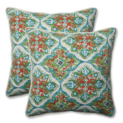 Pillow Perfect Splendor Square Outdoor Pillow - Set of 2
