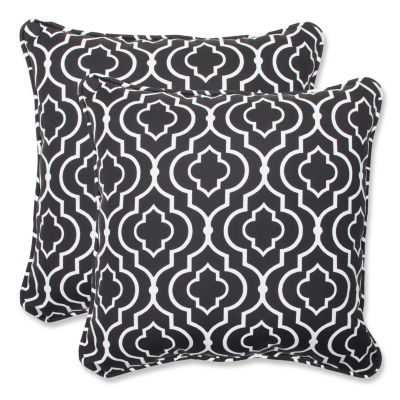 Pillow Perfect Starlet Square Outdoor Pillow - Setof 2