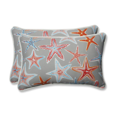 Pillow Perfect Stars Collide Rectangular Outdoor Pillow - Set of 2
