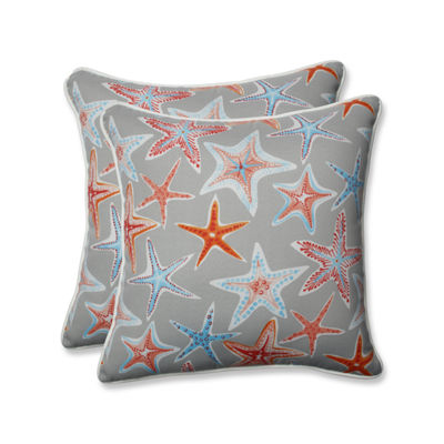 Pillow Perfect Stars Collide Square Outdoor Pillow- Set of 2