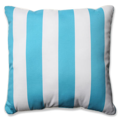 Pillow Perfect Stripe Square Outdoor Floor Pillow