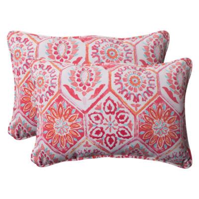 Pillow Perfect Summer Breeze Rectangular Outdoor Pillow - Set of 2