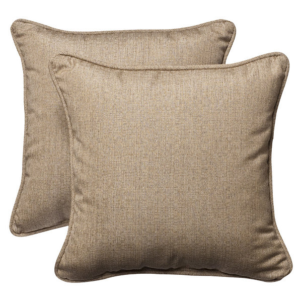 Pillow Perfect Sunbrella Square Outdoor Pillow - Set of 2