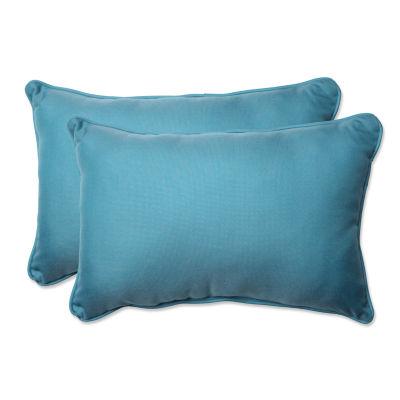 Pillow Perfect Tweed Rectangular Outdoor Pillow -Set of 2
