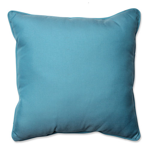 Pillow Perfect Tweed Square Outdoor Floor Pillow