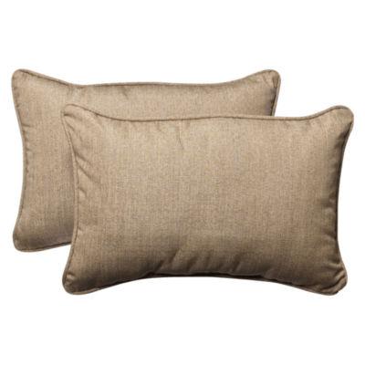 Pillow Perfect Sunbrella Rectangular Outdoor Pillow - Set of 2