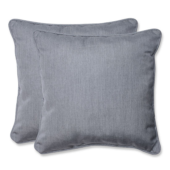 Pillow Perfect Pillow Perfect Square Outdoor Pillow With Grey Sunbrella Fabric Set Of 2