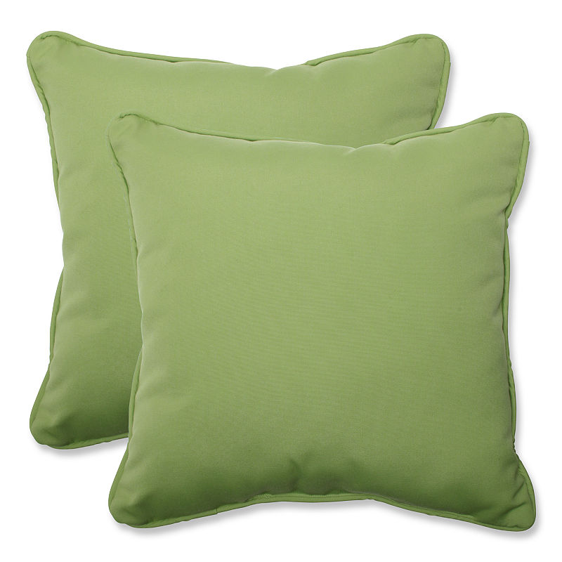 Amazon.com: Pillow Perfect Throw Pillow with Green Sunbrella Fabric, 18.5-Inch, Set of 2: Home & Kitchen