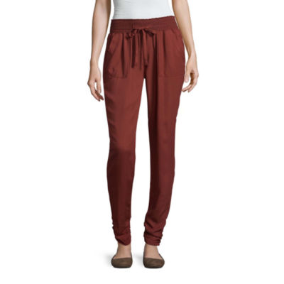 Rewash Relaxed Fit Crepe Pull-On Pants-Juniors