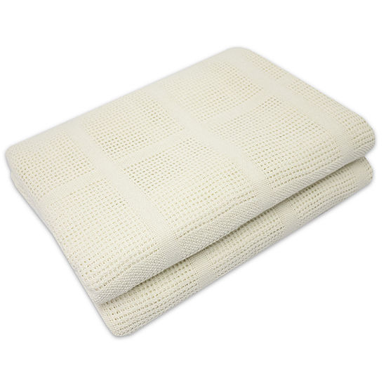 100% Cotton Cozy All Season Knit Blanket- Assorted Colors