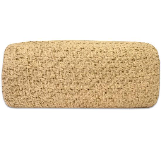 100% Cotton Houndstooth Stitch Pattern Woven Grand Hotel Blanket
