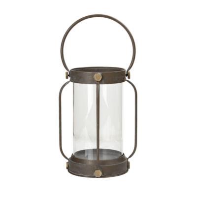 Madison Park Toki Iron and Glass Lantern