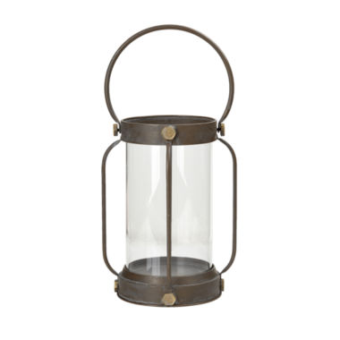 Madison Park Toki Iron and Glass Lantern