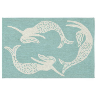 Liora Manne Capri Mermaids Indoor/Outdoor Rug