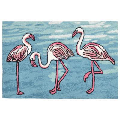 Liora Manne Frontporch Flamingo Indoor/Outdoor Rug
