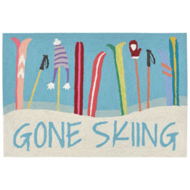 Liora Manne Frontporch Gone Skiing Indoor/OutdoorRug