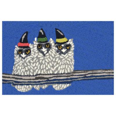 Liora Manne Frontporch Owl-o-ween Indoor/Outdoor Rug