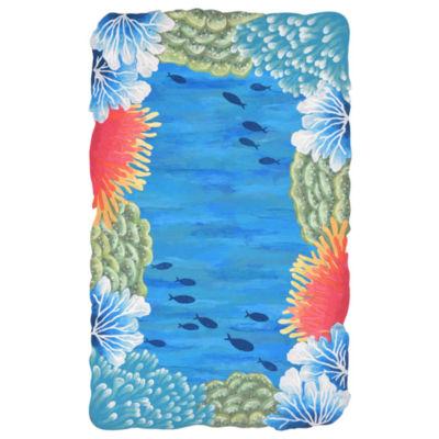 Liora Manne Visions IV Reef Border Indoor/OutdoorRug