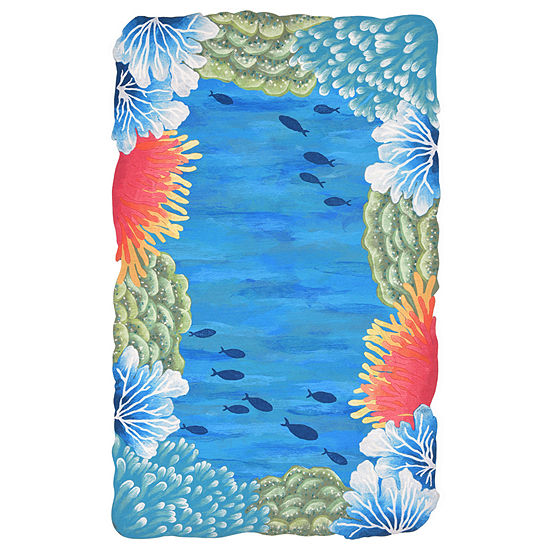Liora Manne Visions IV Reef Border Indoor/OutdoorRug