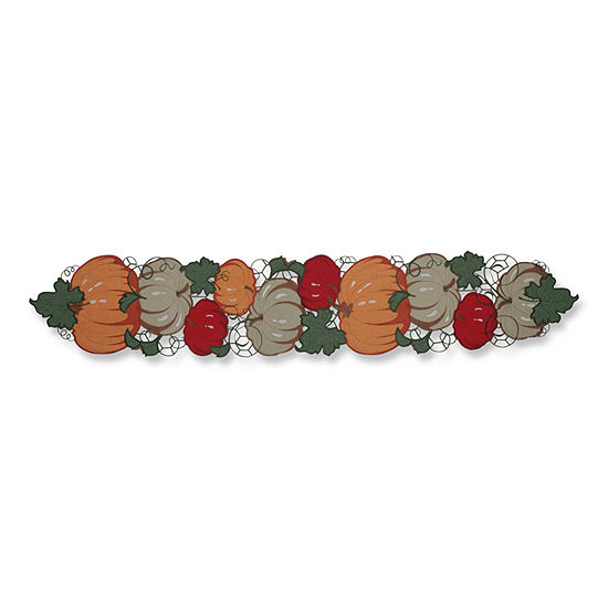 Pillow Perfect Pumpkin Stack Harvest 68-inch Table Runner