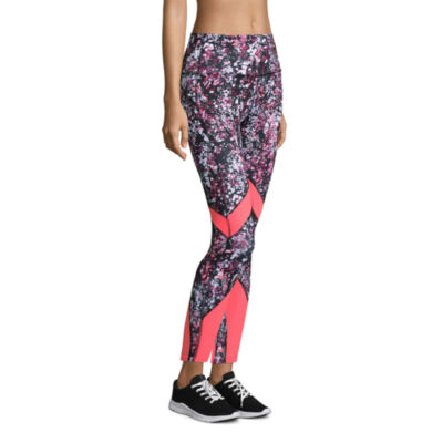 Xersion High Rise 7/8 Printed Mesh Inset Legging