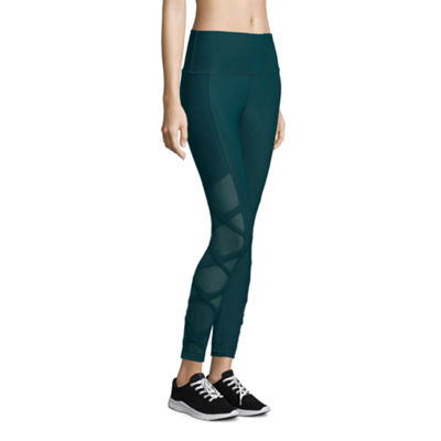 Xersion High Rise 7/8 Mesh Inset Leggings