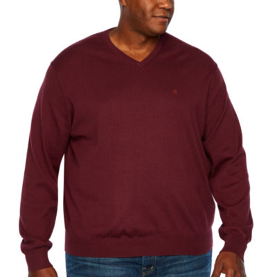 IZOD Premium Essential V-Neck Long Sleeve Sweatshirt - Big and Tall