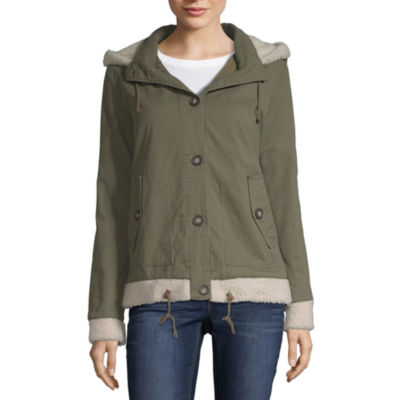 Arizona Twill Hooded Heavyweight Field Jacket-Juniors
