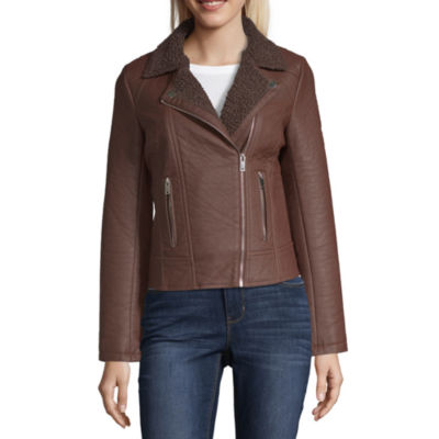 Maralyn And Me Faux Leather Lightweight Motorcycle Jacket-Juniors